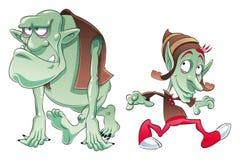 Boeman en Elf royalty-vrije illustratie
