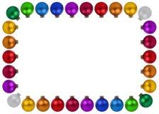 Bożenarodzeniowa piłek baubles dekoraci ramy copyspace kopii przestrzeń jest Obrazy Royalty Free
