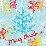 Bożenarodzeniowego kartka z pozdrowieniami pocztówkowy editable szablon. EPS 10 vecto Zdjęcia Royalty Free