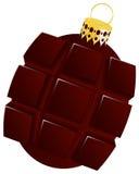 Bożenarodzeniowy bauble granat ręczny kształtował, choinki piłka, projekta xmas drzewny bauble odizolowywający na białym tle Zdjęcie Royalty Free