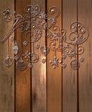 Bożenarodzeniowy tło z ślicznym kwiecistym ornamentem Zdjęcie Stock