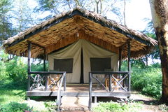 boende tented africa royaltyfri fotografi