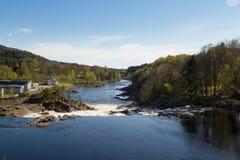 Boenfossen, la cascade chez Boen, en rivière Salmon populaire Tovdalselva, dans Kristiansand, la Norvège Photo libre de droits