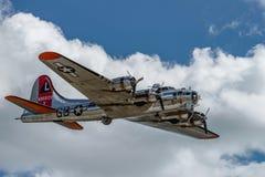 Boening B-17G飞行堡垒`美国人夫人 免版税库存图片
