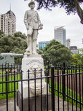 Boer War Memorial at Albert Park, Auckland, New Zealand. The Park was laid out in the 1880s and originally had commanding views over the city and harbour. The Royalty Free Stock Images
