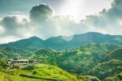 Boerderij in de bergen buiten Jerico Colombia Royalty-vrije Stock Afbeeldingen