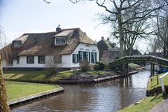 Boerderij Giethoorn stock photo