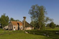 Boerderij in Rottige Meente, Landbouwbedrijf in Rottige Meente stock foto