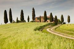 Boerderij in Toscanië Stock Foto