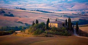 Boerderij in Toscanië Royalty-vrije Stock Afbeelding
