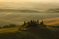 Boerderij in Toscanië Royalty-vrije Stock Fotografie