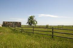 Boerderij in Wyoming royalty-vrije stock foto's