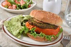 Boerenkool Veggie Hamburger stock afbeeldingen