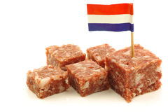 boerenmetworst with a dutch flag toothpick Royalty Free Stock Images