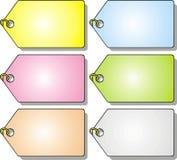 Gekleurde tegenhangers Stock Afbeeldingen