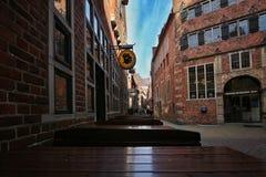 Boettcher街道在布里曼德国 库存照片
