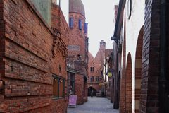 Boettcher Street in Bremen. Germany Royalty Free Stock Images