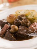 Boeuf Borguignon with Saute Potatoes Royalty Free Stock Images