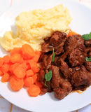 Boeuf bourguignonne meal vertical Stock Images