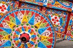 Boeuf-chariot coloré Photographie stock libre de droits