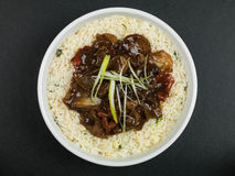 Boeuf chinois et noir Bean Stir Fry Meal image stock