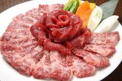 Boeuf coupé en tranches pour le barbecue coréen image libre de droits