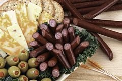 Boeuf et fromage Images libres de droits