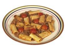 Boeuf et pâtes de Chianti Rigatoni image libre de droits