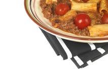 Boeuf et pâtes de Chianti Rigatoni photo libre de droits