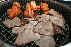 Boeuf grillé tout entier ou boeuf grillé Photo stock