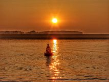 Boey. Beautifull sunset at Antwerp Royalty Free Stock Photo