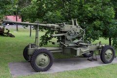 Bofors för 40-mmAnti--flygplan automatisk kanon prövkopia 36Poland på Royaltyfri Foto