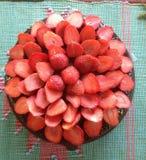 Bogactwo truskawkowa polewa Fotografia Stock