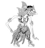 Bogadenta. A character of traditional puppet show, wayang kulit from java indonesia stock illustration
