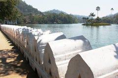 Bogambara Lake Kandy Sri Lanka. Bogambara Lake in Kandy Sri Lanka Royalty Free Stock Photos