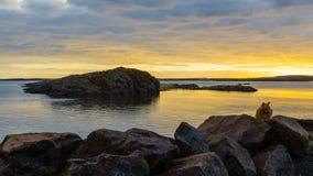 Bogarfjordur at sunset Stock Image