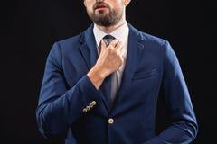 Bogatego człowieka narządzanie dla biznesowego spotkania Zdjęcia Stock