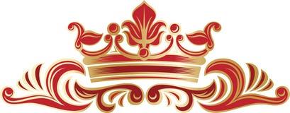 Bogato dekorująca granica z koroną Zdjęcie Stock