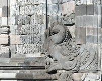 Bogato dekorujący ściany incandi Sewu Buddyjski kompleks, Jawa, Indo Fotografia Royalty Free