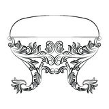 Bogaty Barokowy rokoko krzesło Zdjęcie Stock
