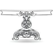 Bogaty baroku stół z rzeźbiącymi ornamentami Obraz Stock