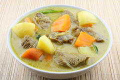 Bogaty serdecznie mięsny curry zdjęcia stock