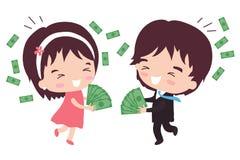 Bogaty ukochany mąż royalty ilustracja
