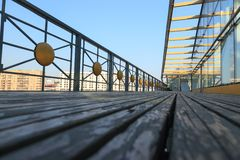 Bogdan Khmelnitsky (Kievsky) Pedestrian Bridge Stock Photography