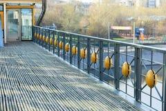 Bogdan Khmelnitsky (Kievsky) Pedestrian Bridge Royalty Free Stock Photography