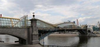 Bogdan Khmelnitsky (Kievsky) Pedestrian Bridge (2001). Moscow. Russia Stock Photography