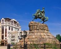 Bogdan Khmelnitsky monument Stock Photo