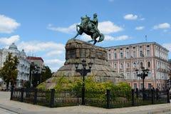 Bogdan Khmelnitsky monument, Kiev Stock Image