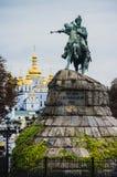 bogdan khmelnitsky monument till arkivbild
