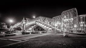 Bogdan Khmelnitsky most przy nocą w Moskwa zdjęcie royalty free
